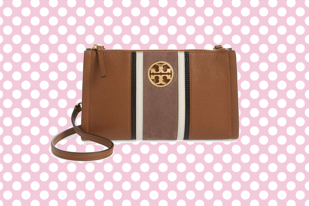Carson Stripe Leather Crossbody Bag, Tory Burch, $149.90 at Nordstrom