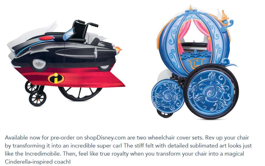 Disney launched a new line of adaptive costumes designed for fans who use wheelchairs or have other accessibility needs. Photo: Sceenshot Disney Parks Blog