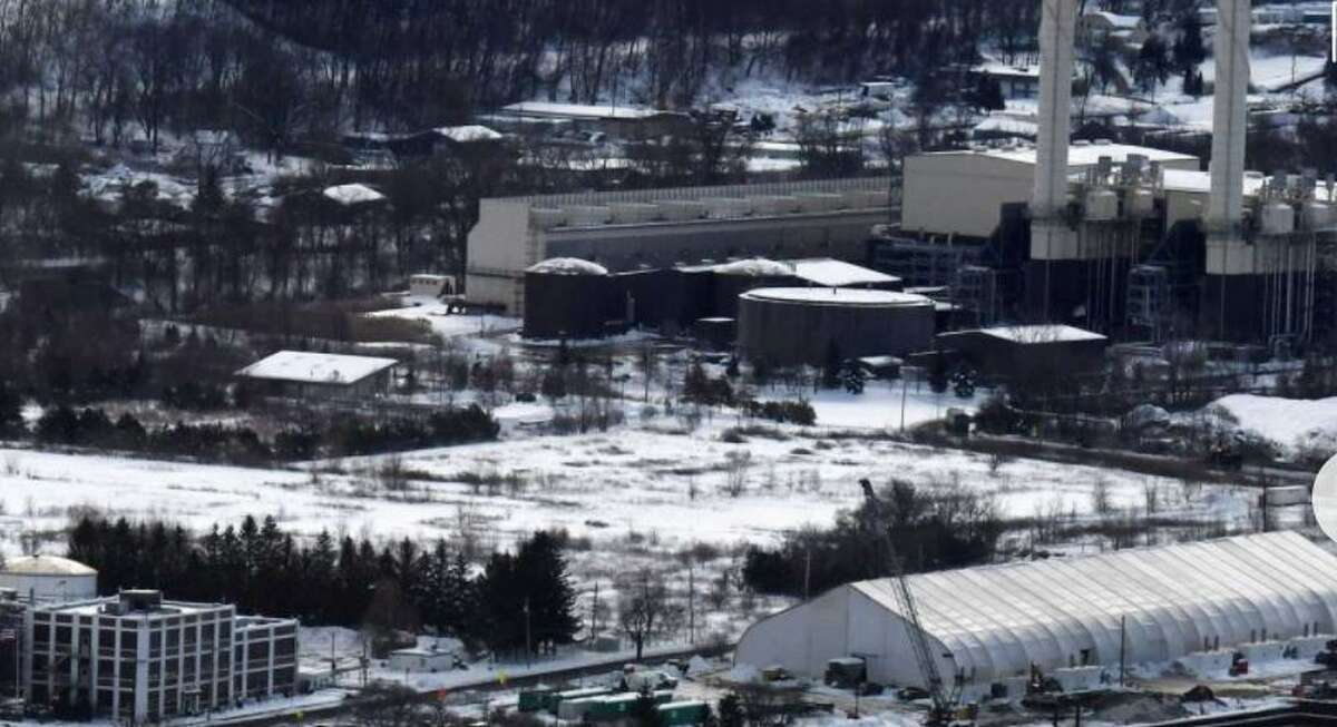 Site of the proposed BioHiTech plant would turn trash into burnable fuel on Thursday, Dec. 5, 2019, on Riverside Avenue in Rensselaer, N.Y. Seen from Corning Tower.