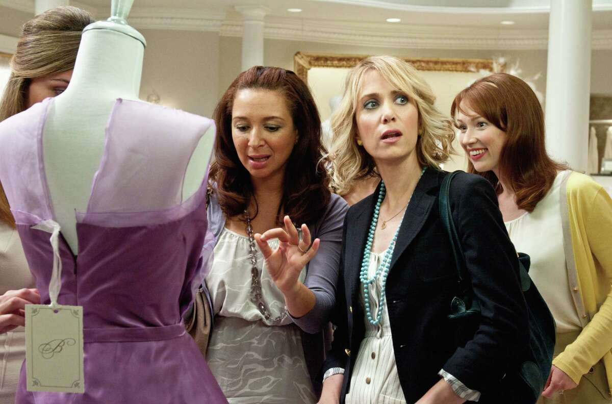 Suzanne Hanover/Universal Studios (L to R) ROSE BYRNE, MAYA RUDOLPH, KRISTEN WIIG and ELLIE KEMPER in