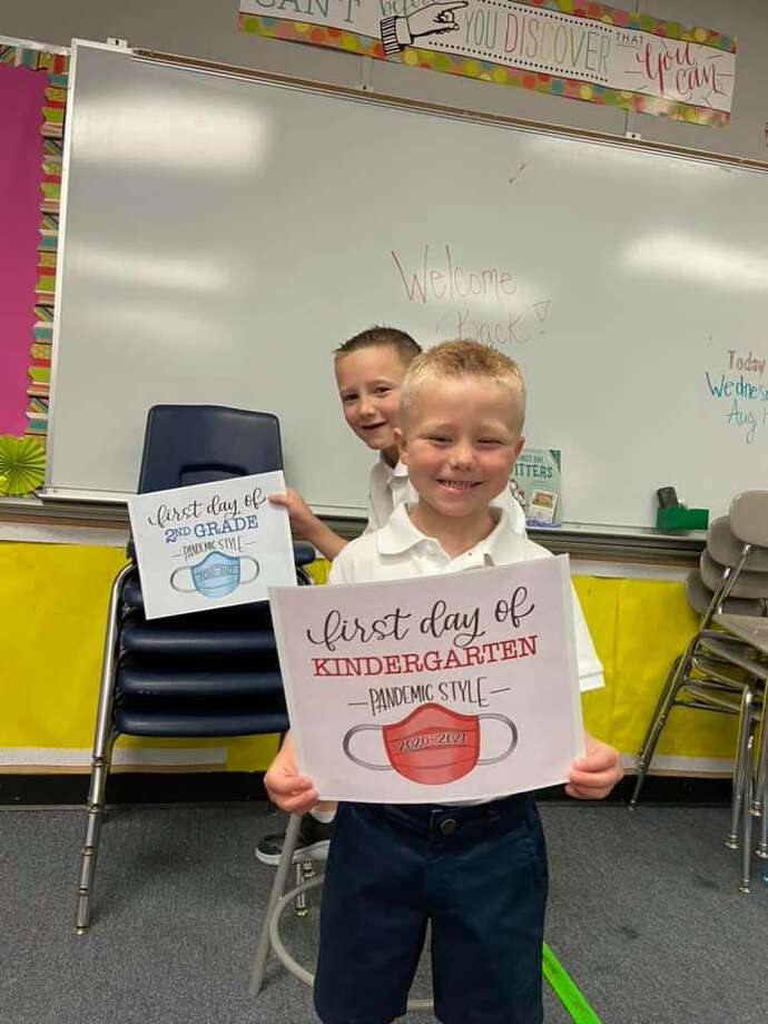 Reader submitted photos of their kids first day of school. Photo: Tiffany Pardue Corson