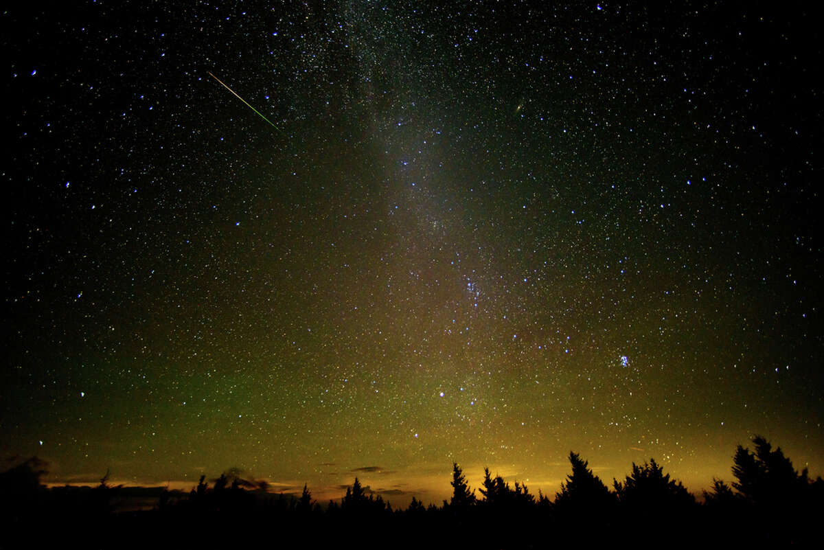 Look to the constellation Perseus in the northeast sky to see the point from which the meteors appear to originate, although you'll be able to see them anywhere in the sky. You should be able to spot 40-50 meteors per hour.