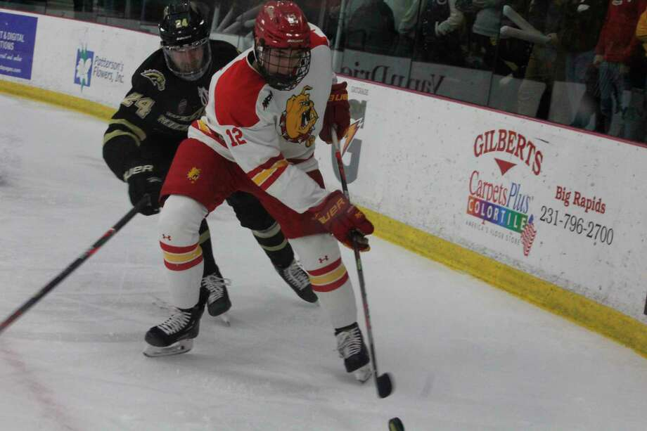 Ferris' hockey season is schedule to start on Oct. 3. But it's status is up in the air until the NCAA makes a decision, which is expected to come within weeks. (Pioneer file photo)
