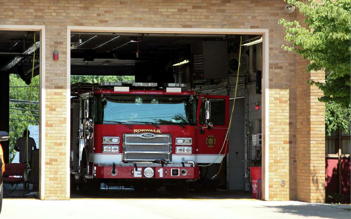 A view of Fire Station 1 on New Canaan Avenue in Norwalk, Conn., on Saturday Mar. 7, 2020.