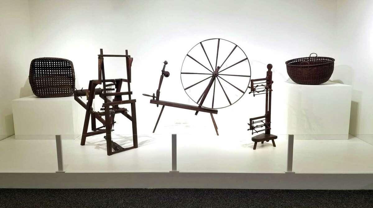 Shaker Museum, Mount Lebanon Historic Shaker artifacts, installation view