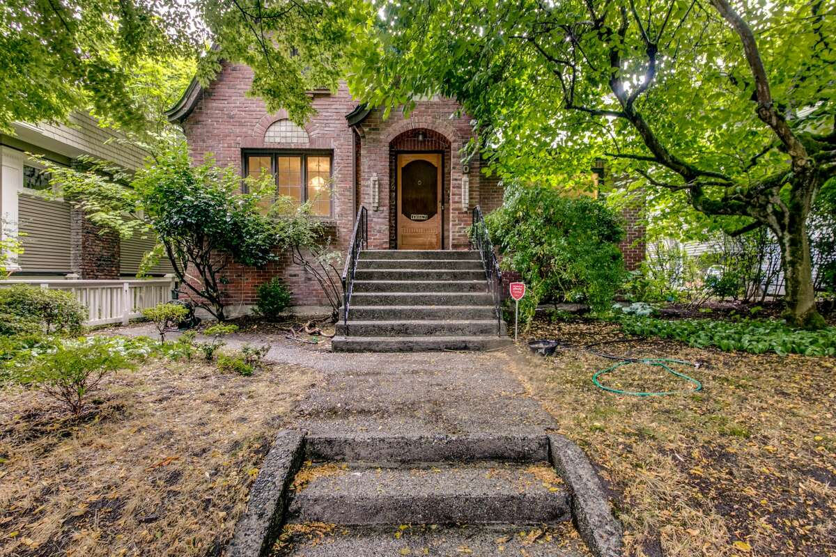 The Tudor facade of this 1931, 2 bed, 2 bath, 2,480-square-foot home is lovely.