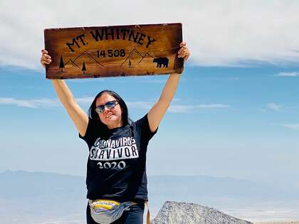 Connie Lares Ruspini climbed to the top of Whitney on August 3 after recovering from COVID-19.
