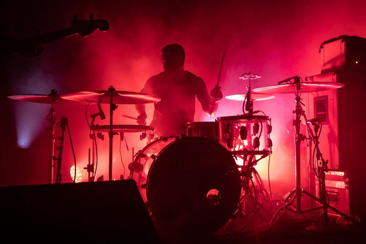 Drummer Thomas Hedlund of Cult of Luna performs at Slim's on March 9, 2020 in San Francisco.