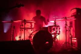 Drummer Thomas Hedlund of Cult of Luna performs at Slim's on March 09, 2020 in San Francisco, California.