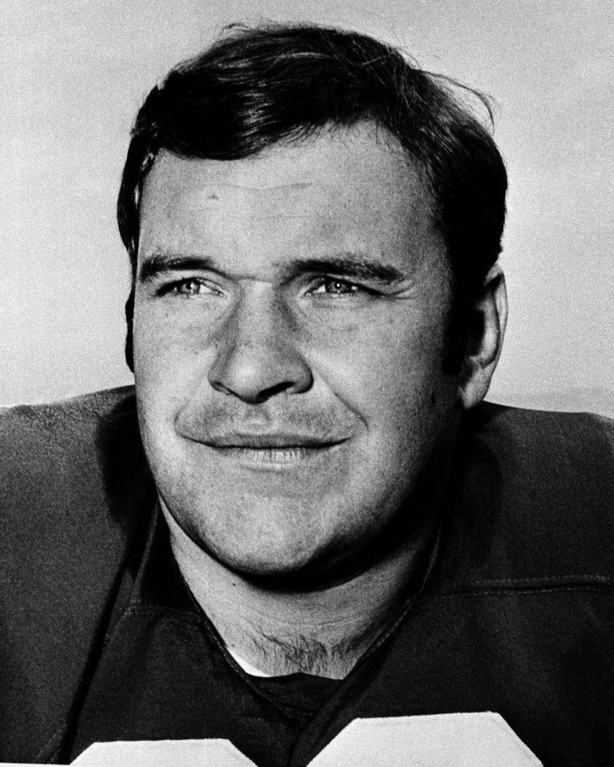 Howard Mudd, offensive guard of the San Francisco 49ers is pictured, Dec. 17, 1968. Mudd died on Aug. 12, 2020. (AP Photo)