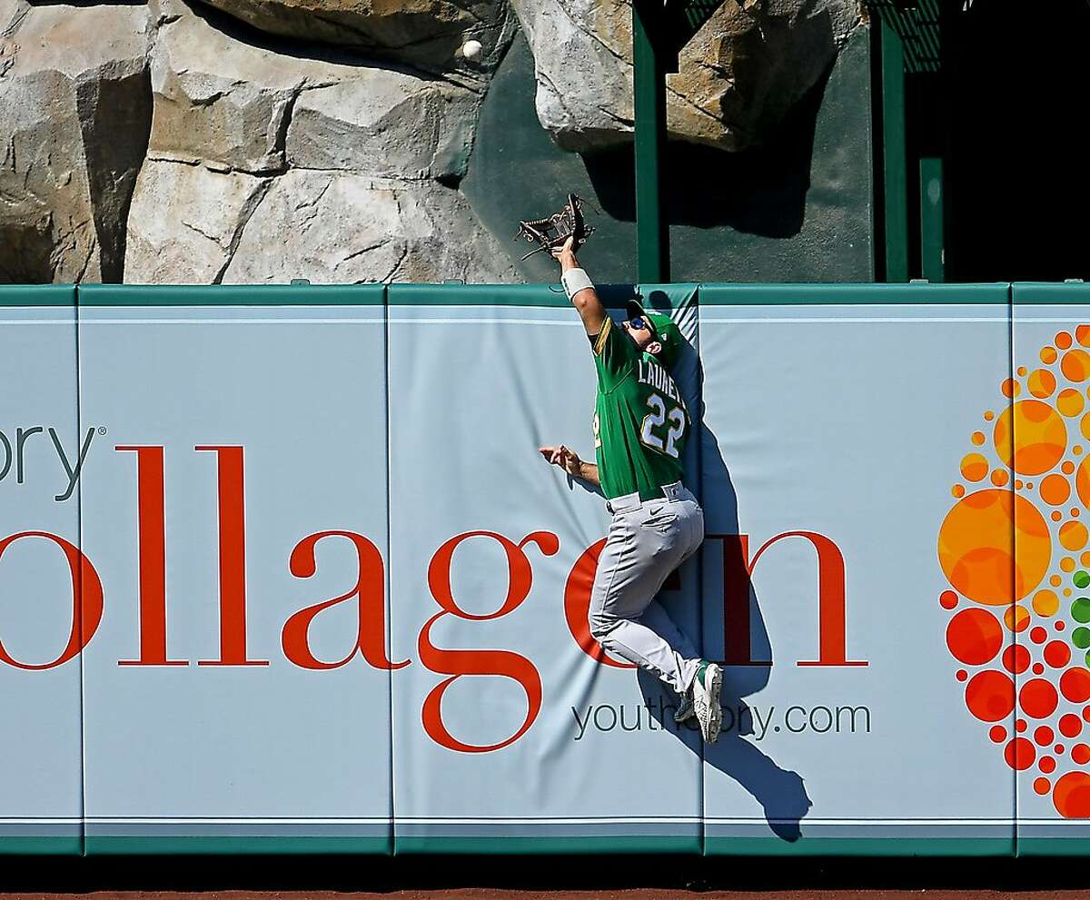 A's outfielder Ramon Laureano did not commit an error while leading major-league outfielders in chances per nine innings (2.94) and ranking second in putouts (144) this season.