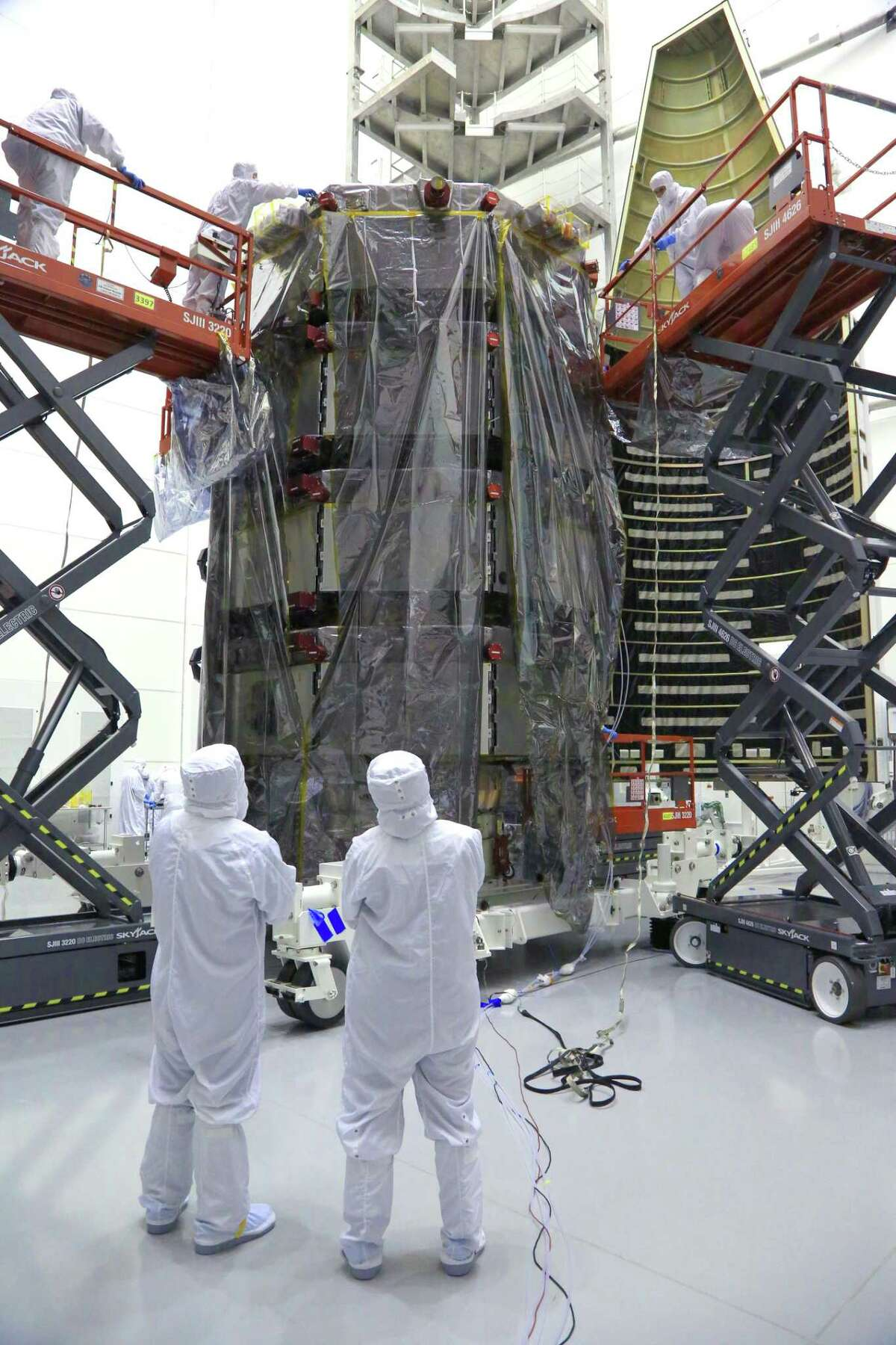 Magnetospheric Multiscale instruments are checked before the mission's launch five years ago.