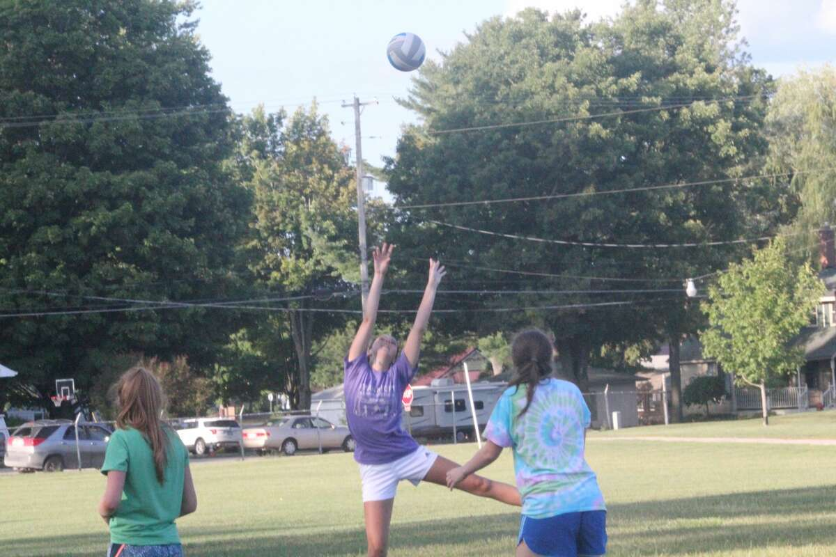 It was the first day of volleyball practice for Reed City on Wednesday. But because of COVID 19, it had to be outdoors.