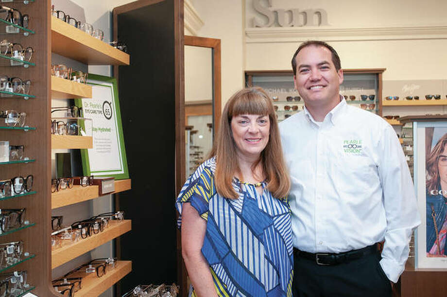 Lori Feezor-Ribble (left) and Ben Ribble have opened Pearle Vision at 111 E. Morton Ave. The couple said they are excited to provide optometry services and to be able to run a family-owned business. Photo: Darren Iozia | Journal-Courier