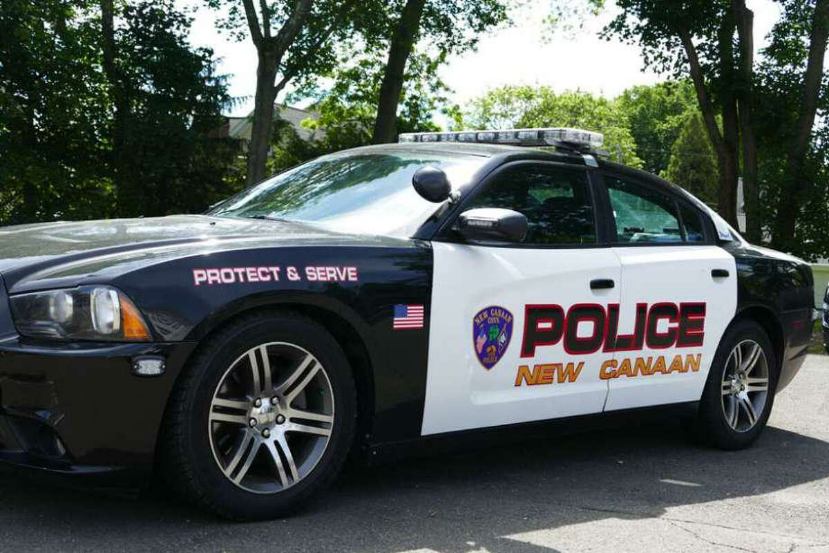 Pictured is a New Canaan Police patrol car. Two purses, a wallet, cash, credit cards, a debit card, driver's licenses, and an iPhone 11 were stolen from vehicles in Irwin Park on Sunday, January 24, 2021. One vehicle was a Honda Pilot, and the other was a Subaru Legacy, police said. Irwin Park is located at 848 Weed Street in New Canaan.