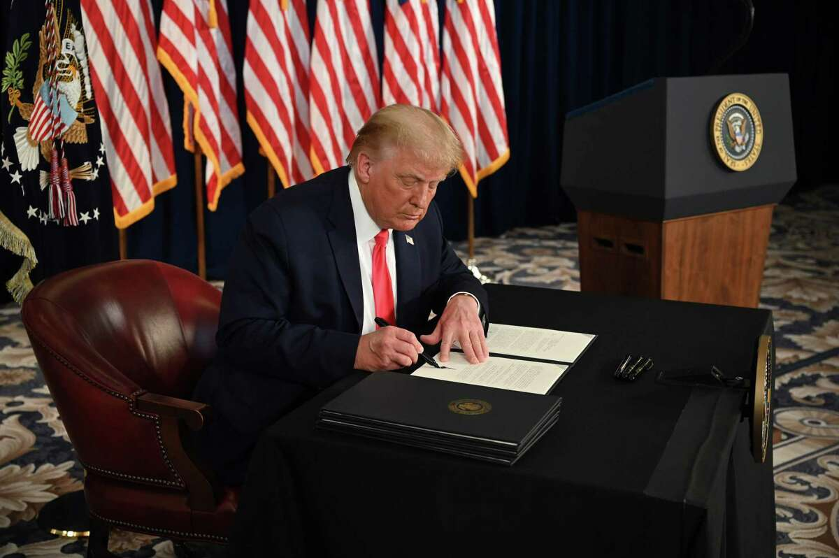 President Donald Trump signs executive orders for some coronavirus relief, but the orders are legally questionable and inadequate. Congress needs to get back to work and make a bipartisan deal.