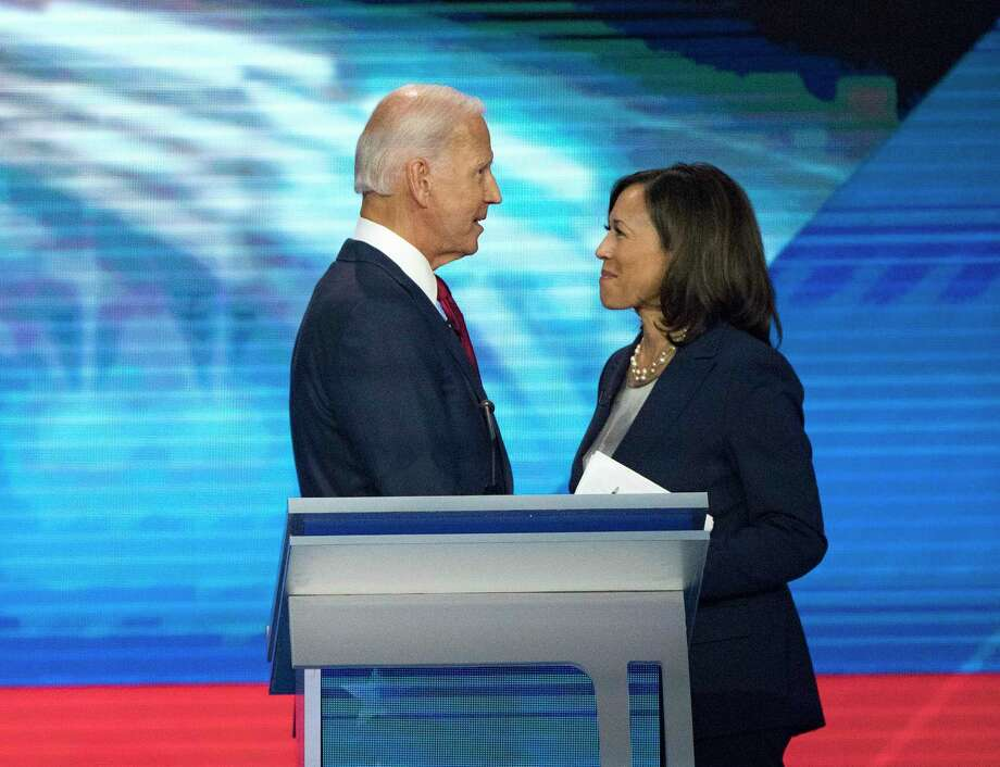 Sen. Kamala Harris affirms former Vice President Joe Biden's orientation toward the future and yets reflects his appreciation of his past. She brings balance to the ticket and offers a strong juxtaposition to Vice President Mike Pence. Photo: Elizabeth Conley / Staff Photographer / © 2019 Elizabeth Conley / Houston Chronicle