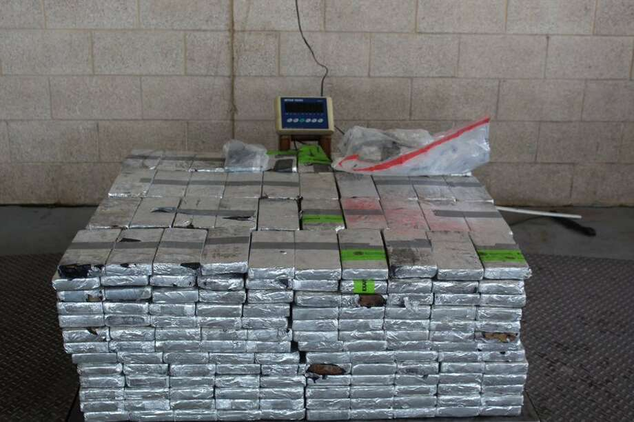 One man is in custody after U.S. Customs and Border Protection agents found nearly $20 million worth of methamphetamine hidden in a produce trailer at a South Texas port. Photo: U.S. Custom And Border Protection