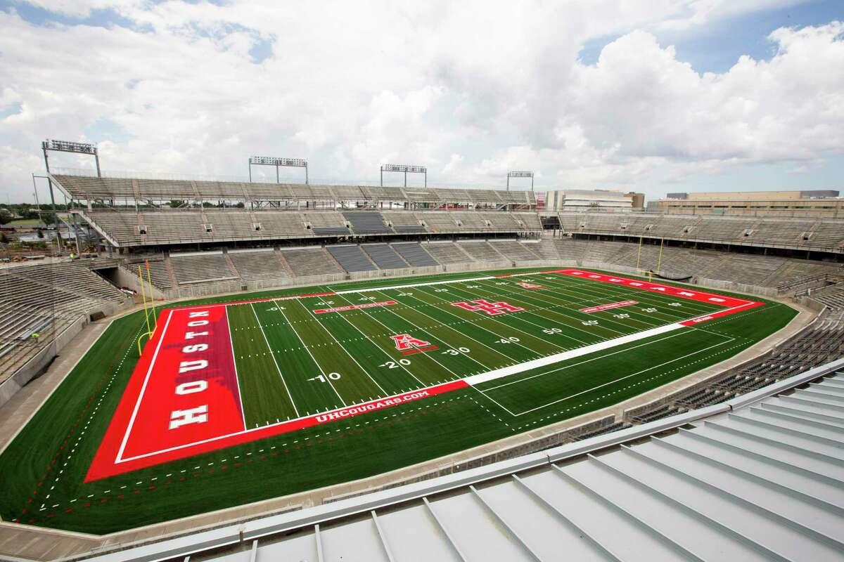 TDECU Stadium is shown on the University of Houston Campus Tuesday, Aug. 5, 2014, in Houston. TDECU Stadium is scheduled to open on August 29, went UH plays the University of Texas-San Antonio. ( Brett Coomer / Houston Chronicle )