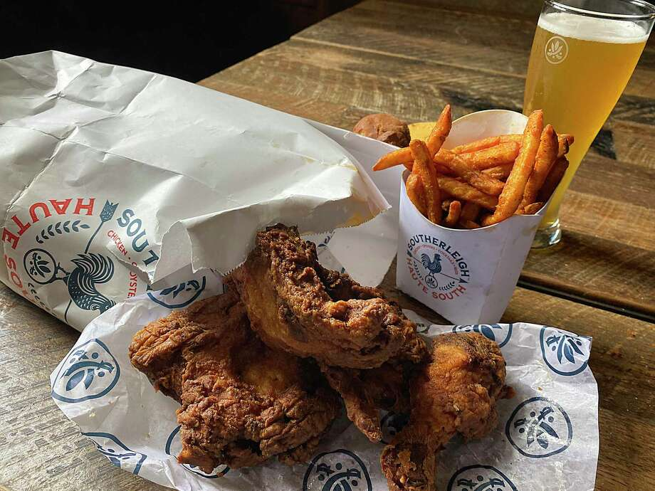 Fried chicken and craft-brewed Southerleigh beer will be part of the menu at Southerleigh Haute South, a casual Southern-style restaurant and bar with fried chicken, seafood and oysters scheduled to open at The Rim in September from the group behind Southerleigh Fine Food & Brewery at the Pearl. Photo: Southerleigh Hospitality Group