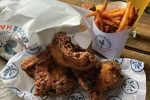 Fried chicken and craft-brewed Southerleigh beer will be part of the menu at Southerleigh Haute South, a casual Southern-style restaurant and bar with fried chicken, seafood and oysters scheduled to open at The Rim Sept. 30.