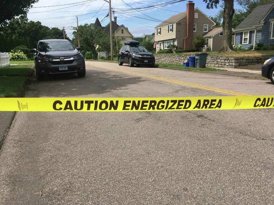 Caution tape on Edgewood Drive in Fairfield late last week. Photo: Contributed Photo /