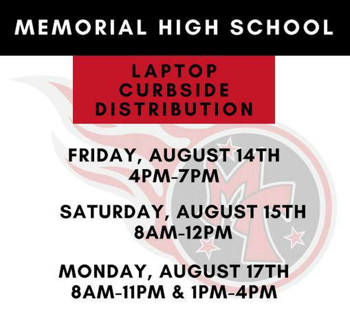Port Arthur ISD announced dates and times for parents to pick up their learning materials and devices for virtual learning.