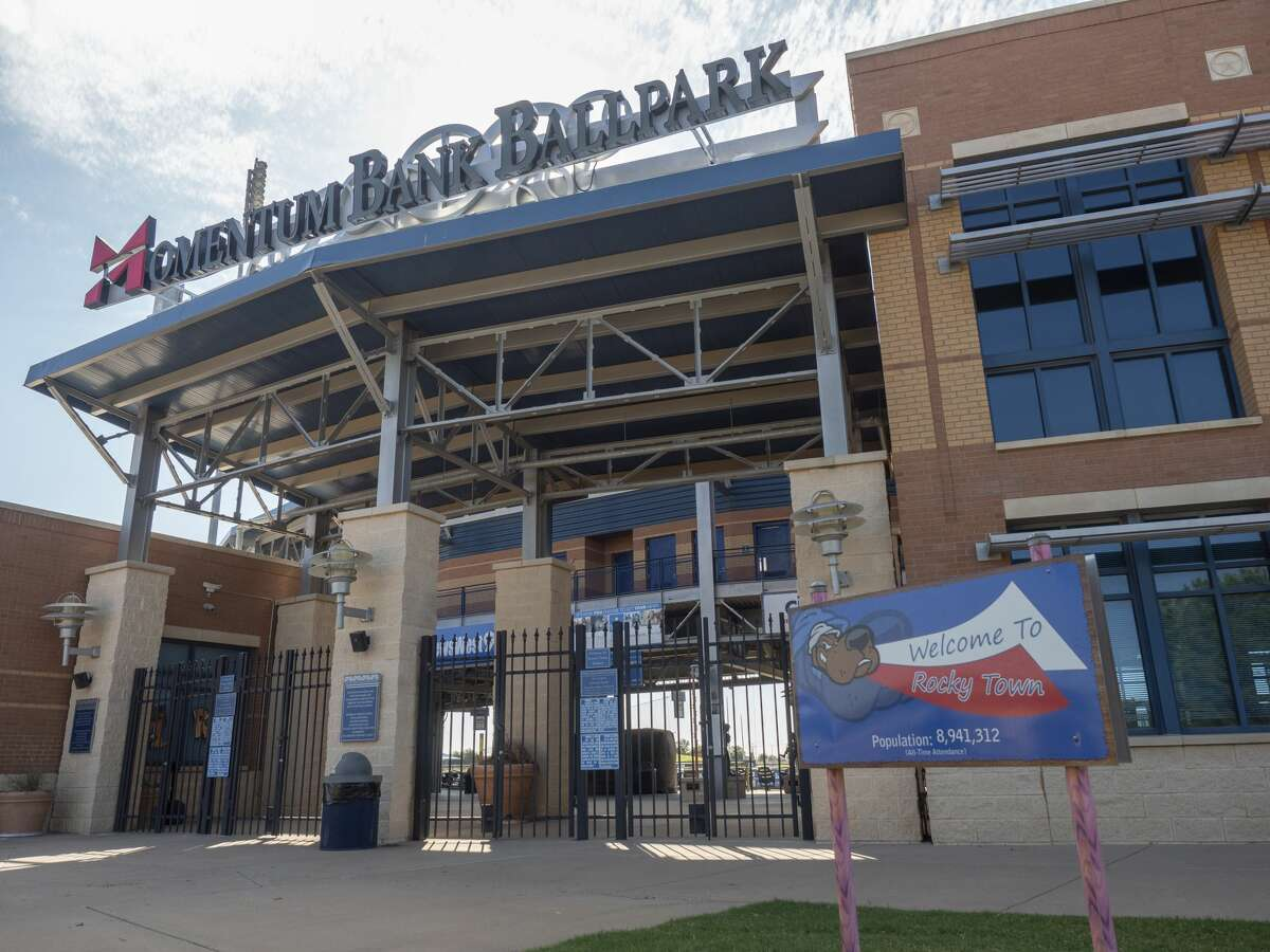New signage is in place at the RockHounds stadium 8/13/2020, now called Momentum Bank Ballpark. Tim Fischer/Reporter-Telegram