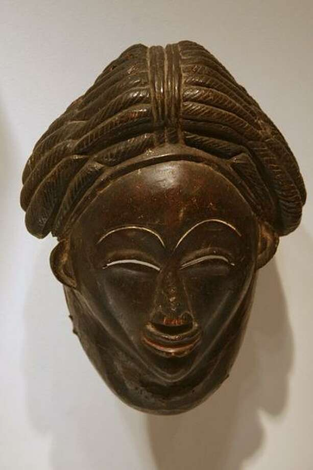 African art mask, late 19th century Photo: New Canaan Library / Contributed Photo