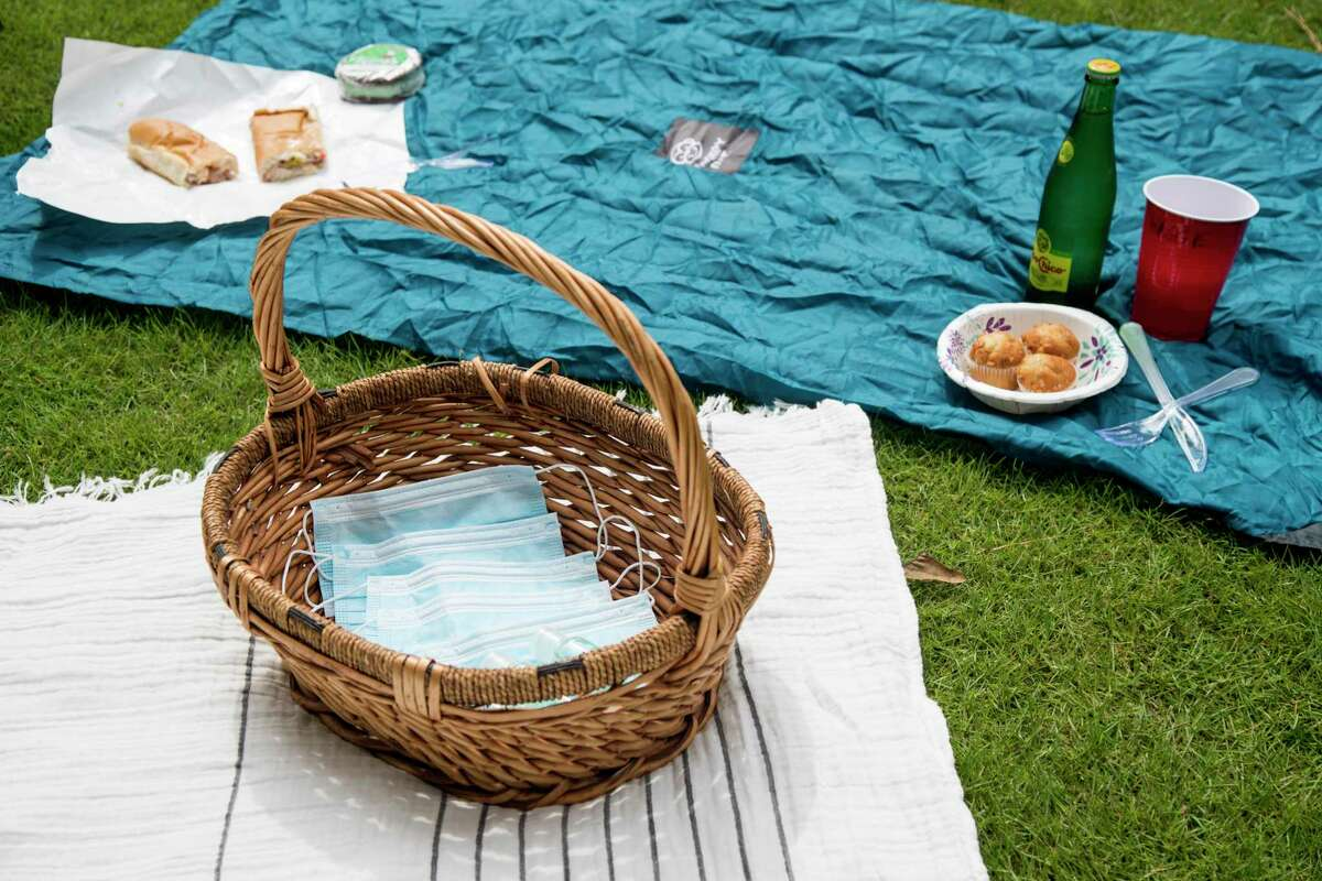 Navigating public spaces during a pandemic is a careful calculation. Experts say being outdoors is safer than indoors, enclosed in recirculated air. If you're desperate to leave the house and socialize, consider a socially distanced picnic in a small group. At a