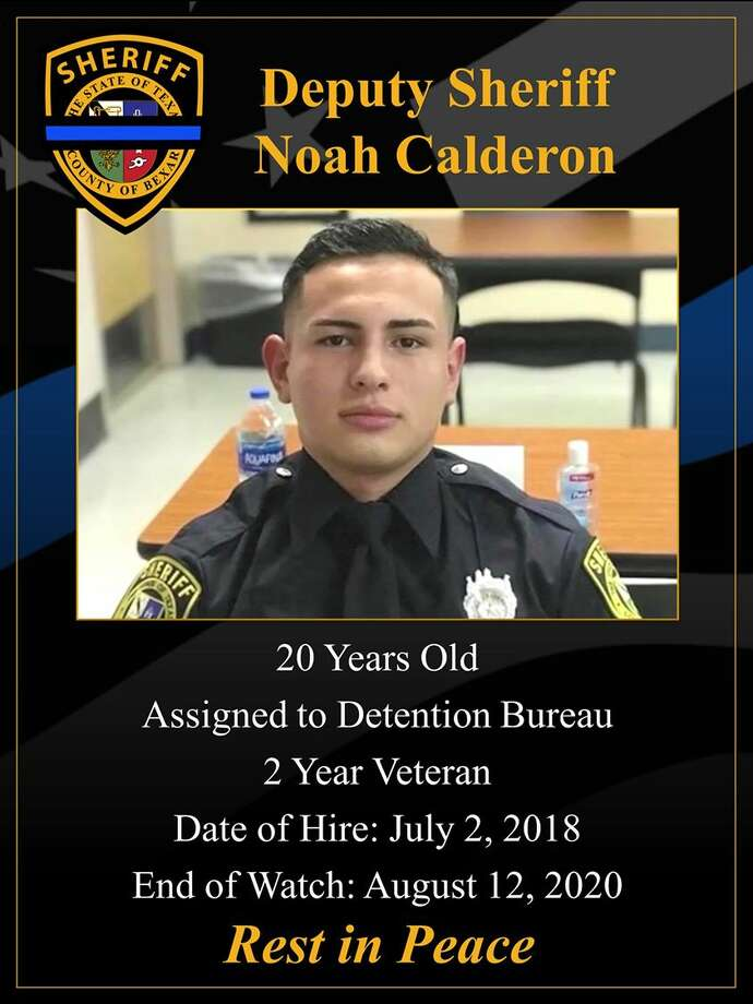 Noah Calderon, the youngest deputy to be hired by Bexar County Sheriff's Office died after his vehicle was hit by an 18-wheeler Wednesday morning in San Patricio County. Photo: Bexar County Sheriff's Office