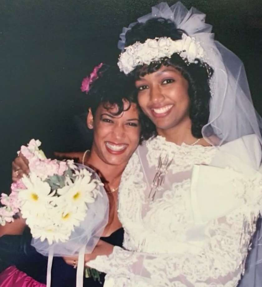 Kamala Harris attending her sorority sister Melanie Miles' wedding. Photo: Via Melanie Miles