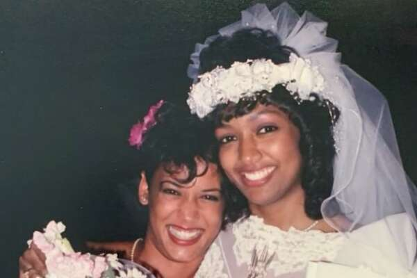 Kamala Harris attending her sorority sister Melanie Miles' wedding.