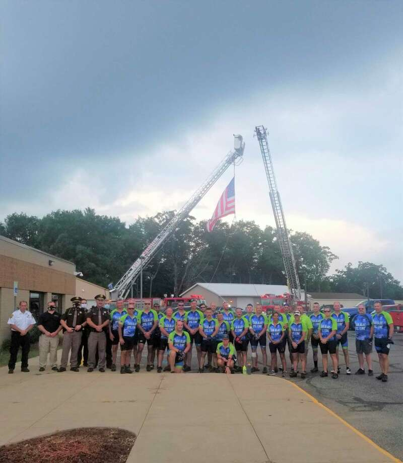 The Thin Blue Shoreline Ride brought cyclists to Manistee on their long journey to honor the memories of Michigan law enforcement officers like the late Manistee County Sheriff's Office deputy who died in 1994.(Manistee County Sheriff's Office/Courtesy photo)