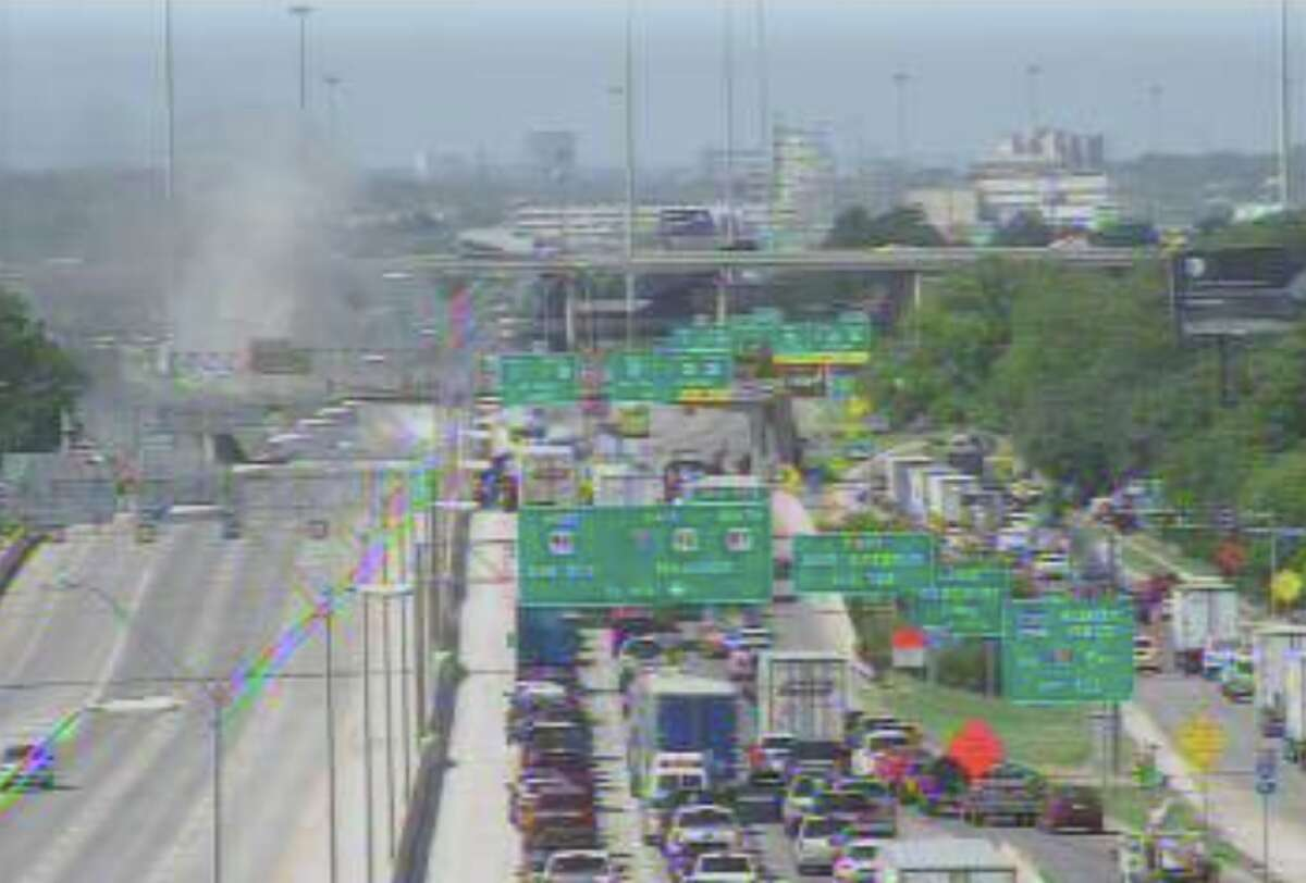 The accident occurred on I-35 South near West Theo Ave, according to San Antonio police.