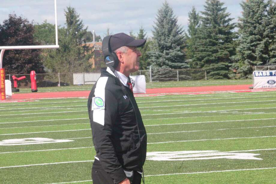 Ferris football coach Tony Annese will have to wait awhile before returning to the sidelines for a new season/ (Pioneer file photo)