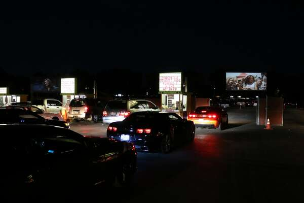 """FILE - Cars pull into the West Wind Capitol Drive-in Movie Theater in San Jose. A movie that was originally selected to screen at Cannes Film Festival, """"Peninsula,"""" will now have an exclusive three-day premiere at the drive-in theater."""