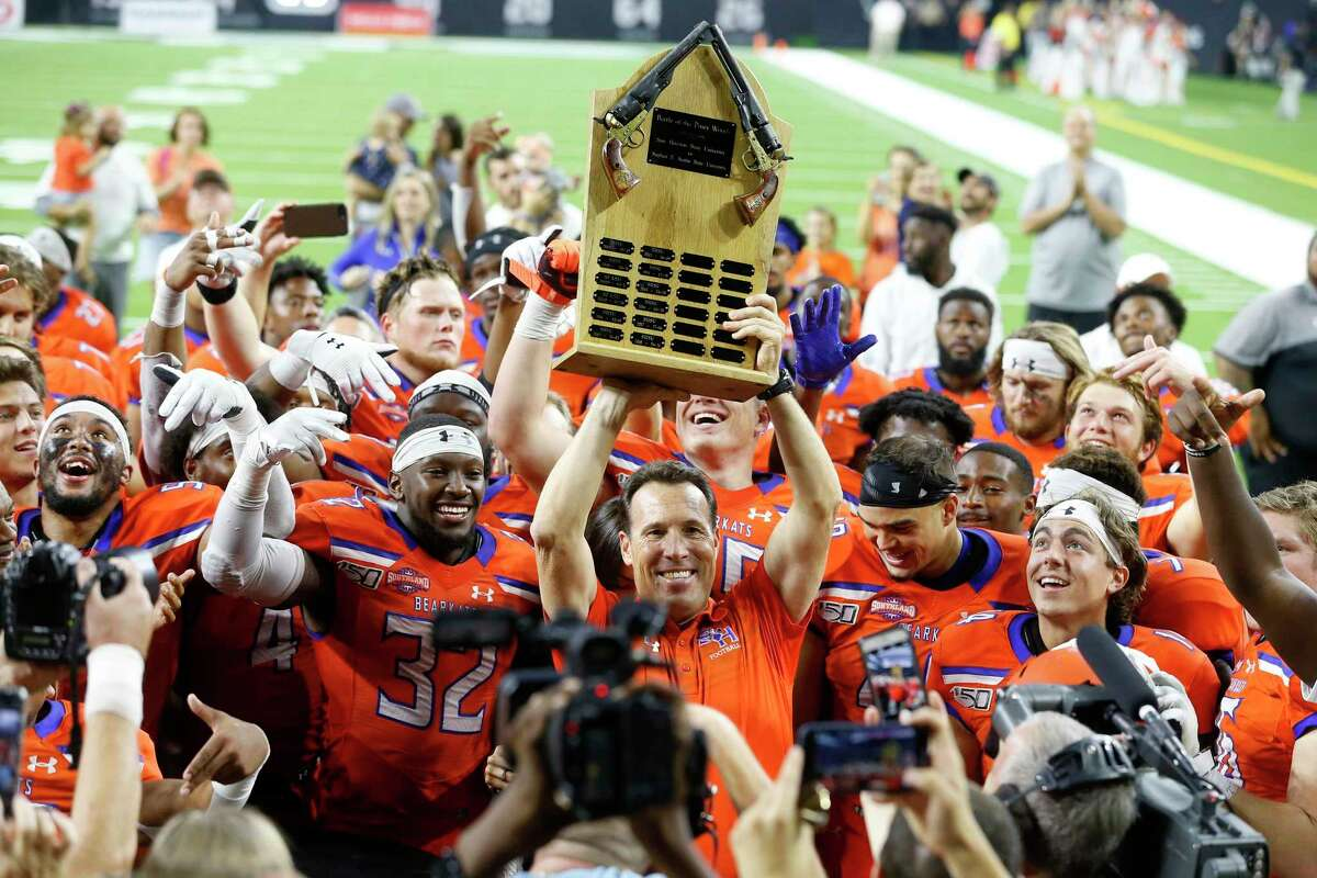 Sam Houston State, which won the Battle of the Piney Woods last season, won't try to play any non-conference games this year after the Southland canceled league play but Stephen F. Austin intends to look for games.