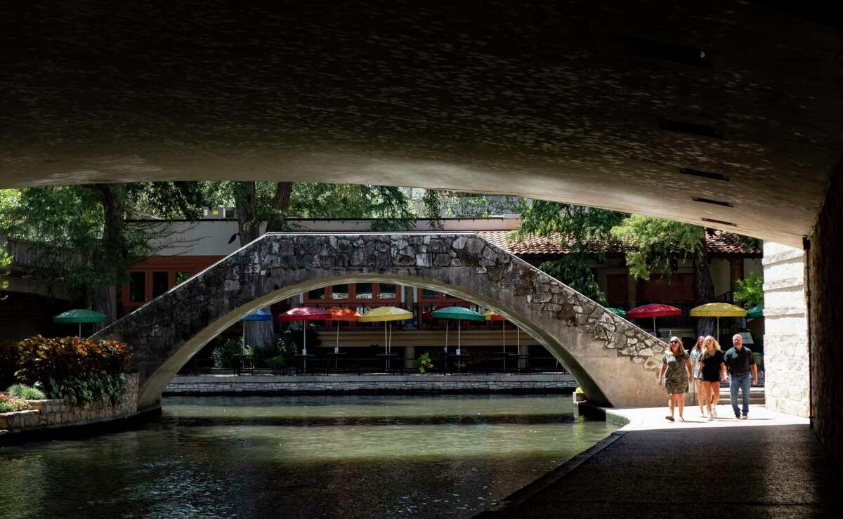 One woman was hospitalized after a random stabbing on River Walk Sunday morning, San Antonio police said. The photo is a file photo of the River Walk.