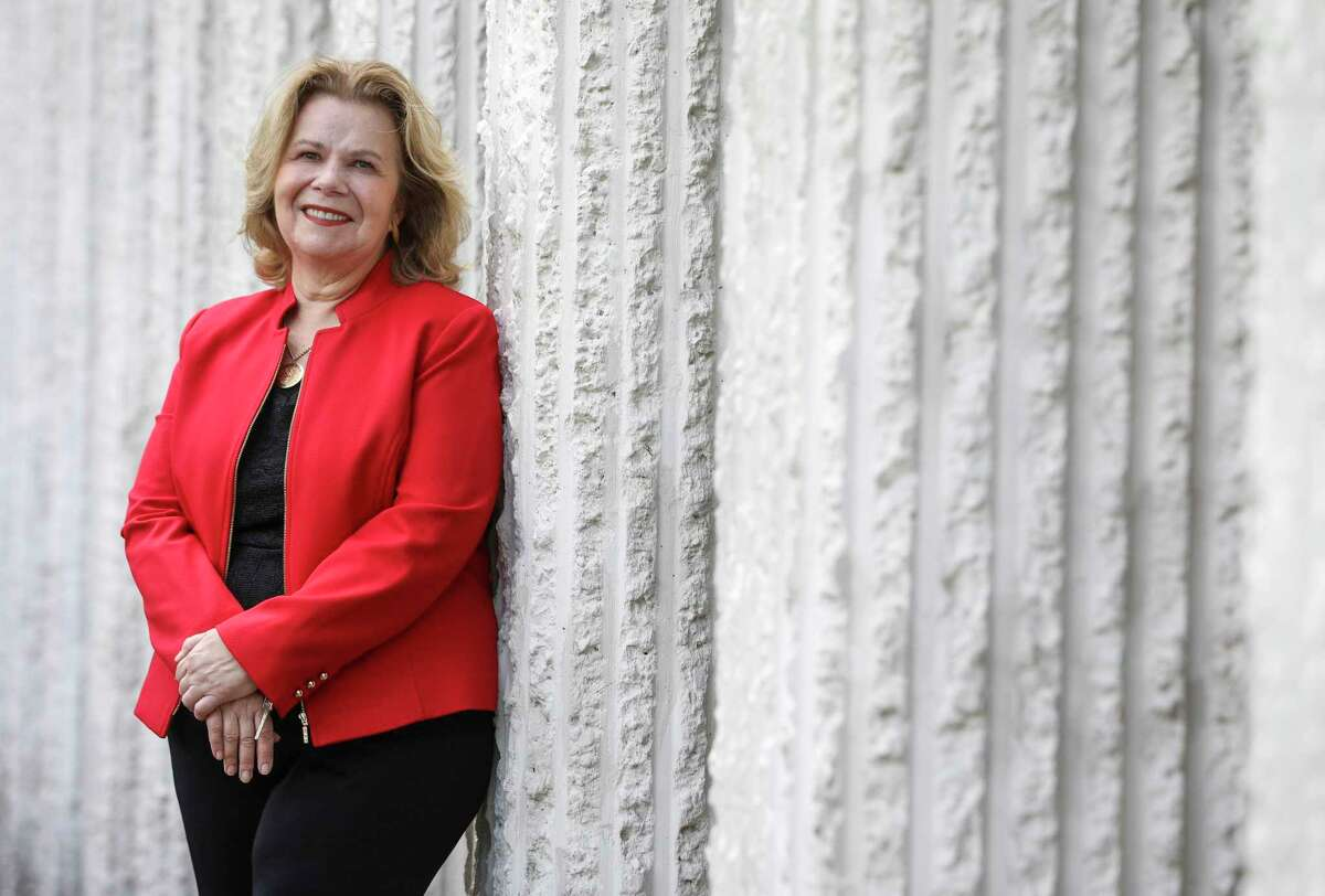 Susan Myres poses for a portrait Tuesday, Aug. 11, 2020, at her office in Houston.