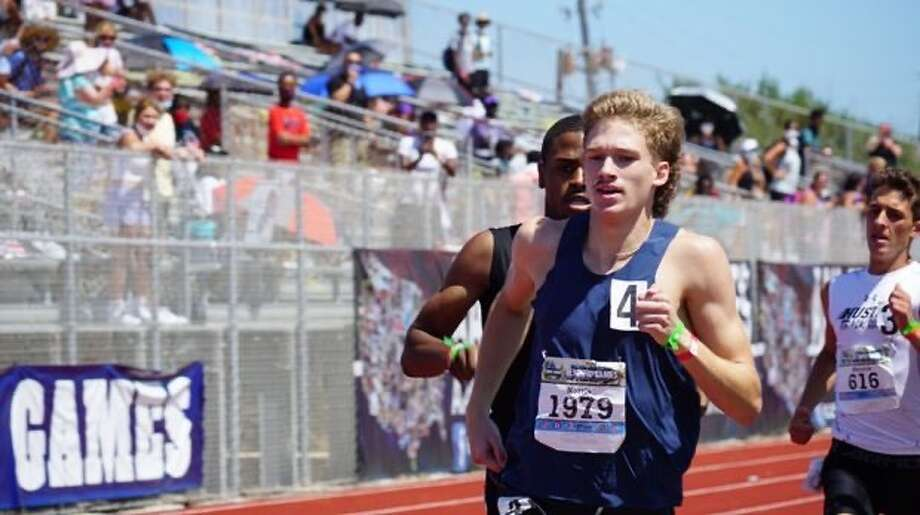 Midland Christian grad Caden Norris competes in the 800 meters at the AAU National Junior Olympic Games, Aug. 8 inSatellite Beach, Fla. Norris earned a silver medal with a second-place finish. Photo: Courtesy Photo