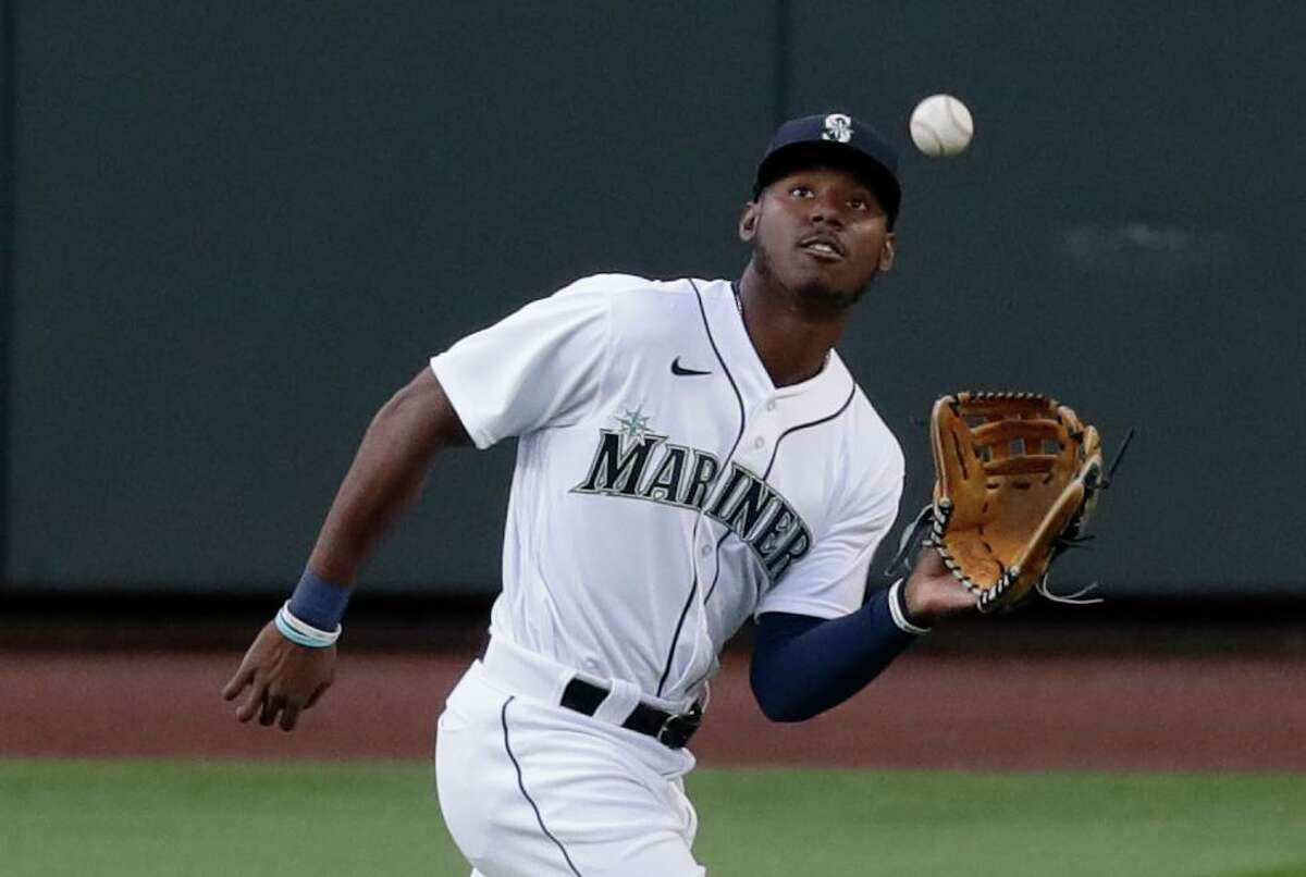 Center fielder Kyle Lewis has emerged as an AL Rookie of the Year candidate.