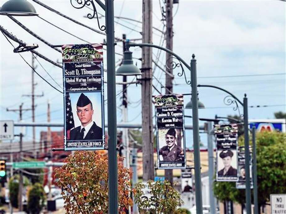 In partnership with the American Legion Auxiliary and the city of Big Rapids, Artworks will be honoring veterans as well as those currently serving with banners throughout downtown Big Rapids. Banners will be hung from November to March. (Courtesy photo)