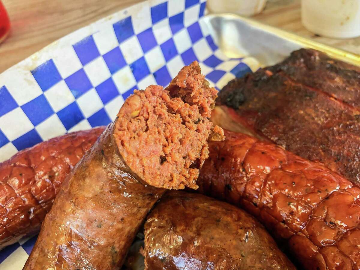All-beef sausage at Lonestar Sausage & BBQ