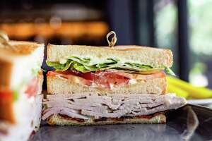 Turkey club sandwich from Louie's, a new take-away sandwich concept within Riel in Montrose.