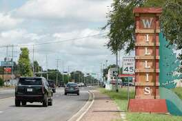 A city of Willis entryway sign is seen along TX-75, Wednesday, July 29, 2020, in Willis.