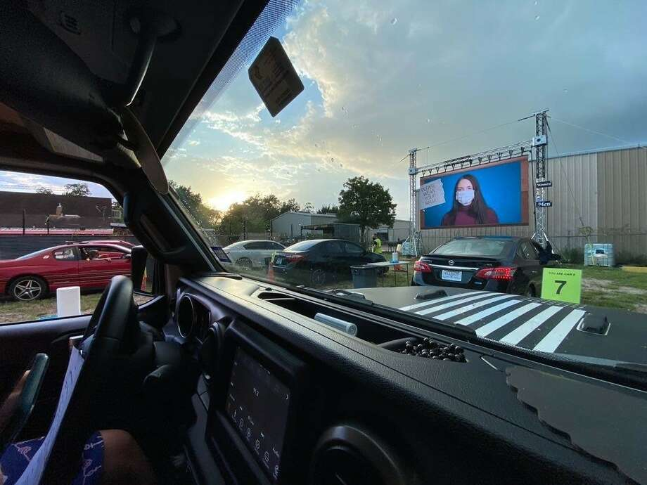 Don't ever think that Heights' coolest honky tonk is just a fun spot to get a ice-cold Lone Star. Nope, it's a lot more than that. Shady Acres Saloon is now featuring a drive-in movie series for Houstonians looking for weekend movies. Photo: Devin Cryer