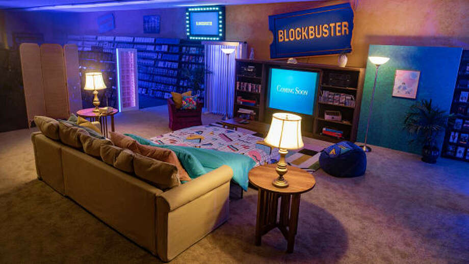 Take a look at the very last Blockbuster in Bend, Oregon, that now doubles as an Air Bnb. Photo: Via Blockbuster/Air Bnb