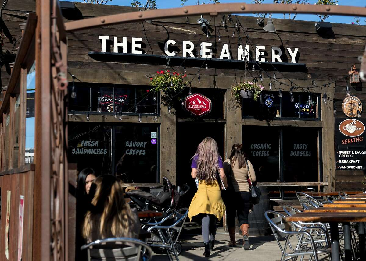 Patrons enter The Creamery on 4th and Townsend streets in the South of Market district of San Francisco, Calif. Wednesday, Nov. 28, 2018.