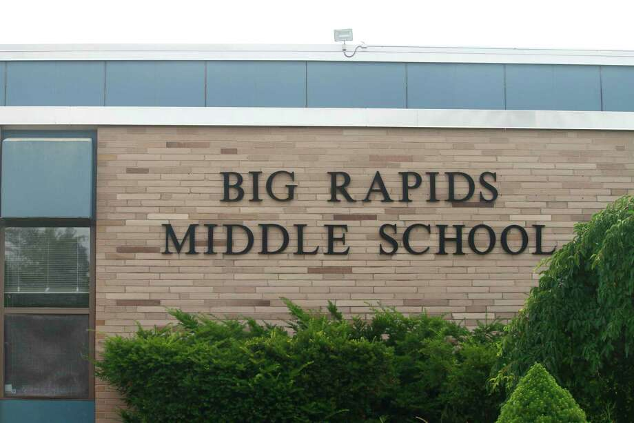 New road signs have been added near Big Rapids Middle School in order to make student drop-off and pick-up safer and more efficient. An all-way stop was recently put in near the middle school as well. (Pioneer file photo)